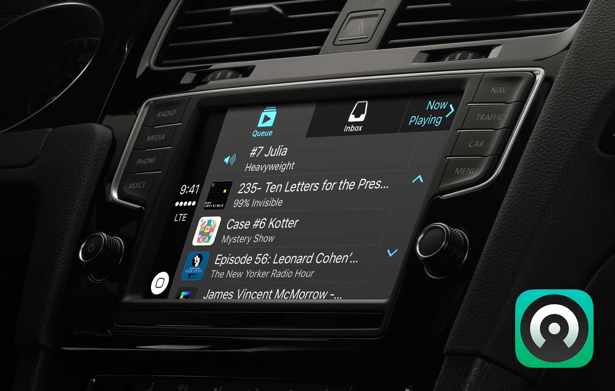 Preview of Castro's CarPlay interface in 2.2