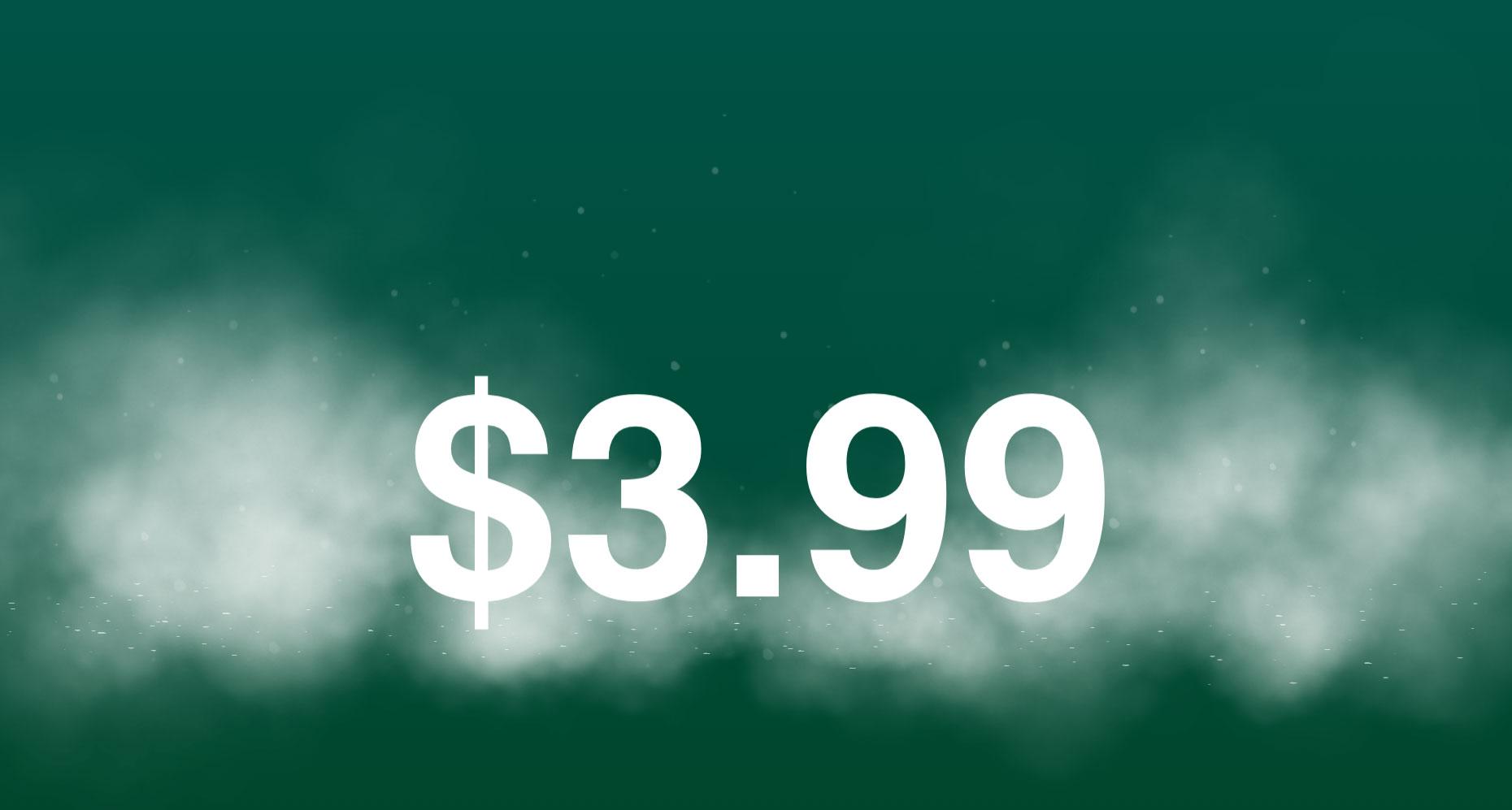 Castro is now $3.99